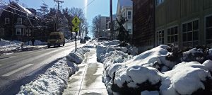 Winthrop St by the Tufts Interfaith Center