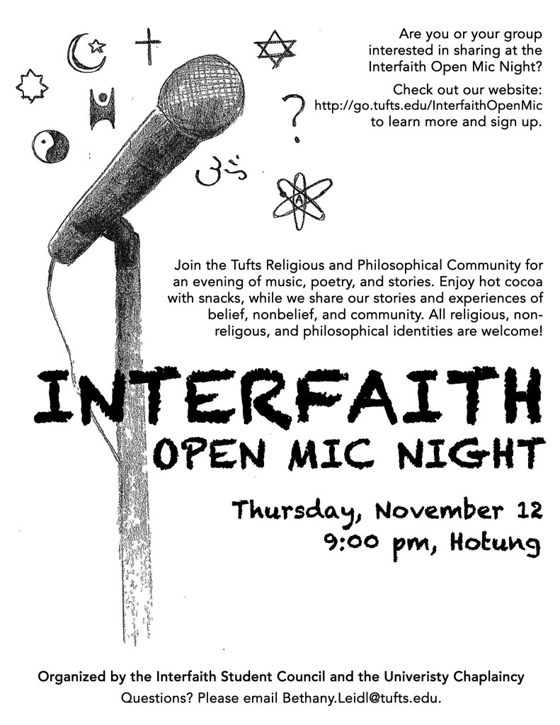 11.12.15 Interfaith Open Mic Night
