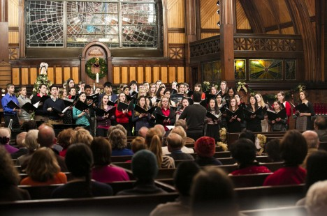 The annual Goddard Chapel holiday concert on December 4, 2013.