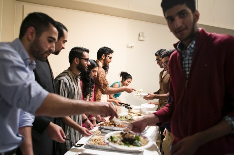 The Eid holiday celebration by the Muslim Students Association at Tufts on October 17, 2014