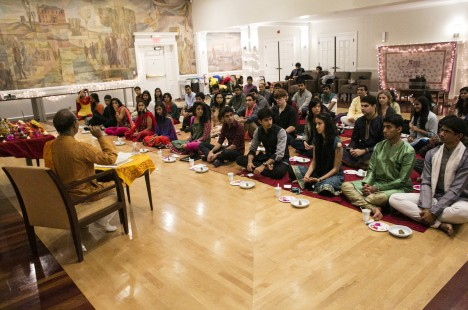 A Diwali prayer and celebration event sponsored by Tufts Hindu Students Council and the Tufts Chaplaincy on October 24, 2014