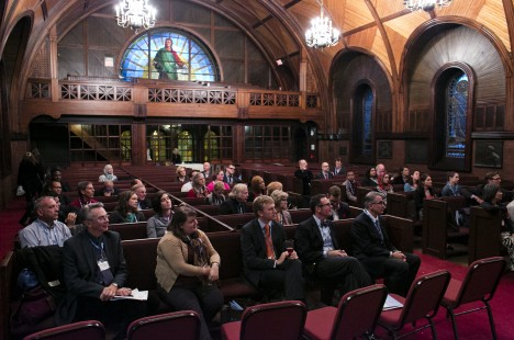 The Tufts University Chaplaincy hosts guests attending the Association for College and University Religious Affairs (ACURA) conference on October 26, 2014
