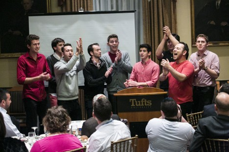 The Tufts University Beelzebubs perform for the Association for College and University Religious Affairs (ACURA) Annual Meeting hosted at Tufts University October 26-28, 2014