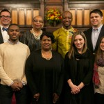 The planning committee for the University Chaplain's office Dr. Martin Luther King Jr. Day Community Celebration poses for a group photo at Goddard Chapel on Jan. 22, 2015