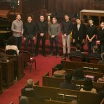 A cappella group S-Factor performs at the University Chaplain's office Dr. Martin Luther King Jr. Day Community Celebration at Goddard Chapel on Jan. 22, 2015.