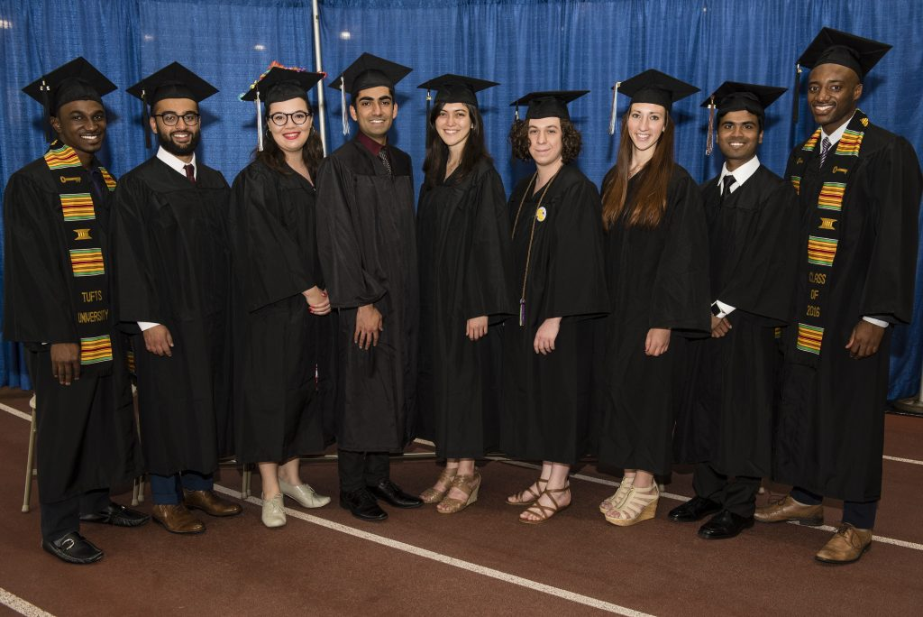 05/21/2016 - Medford/Somerville, Mass. - The student presenters of Baccalaureate 2016 pose for a photo on May 21, 2016. (Alonso Nichols/Tufts University)