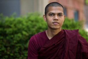08/24/2016 - Medford/Somerville, Mass. - Priya Sraman, Buddhist in Residence, University Chaplaincy, poses for a portrait on August 24, 2016. (Alonso Nichols/Tufts University)
