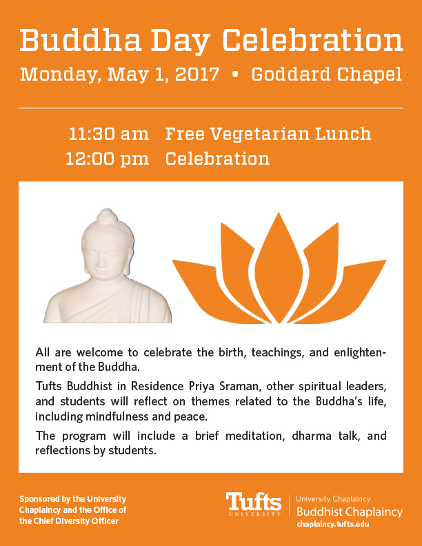 Buddha Day Celebration - Tufts University Chaplaincy