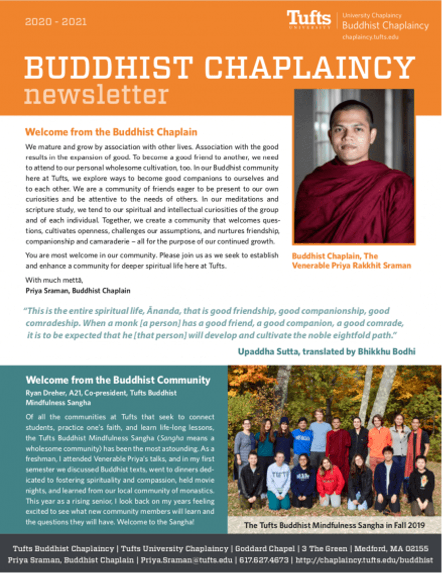 First page of Buddhist Newsletter