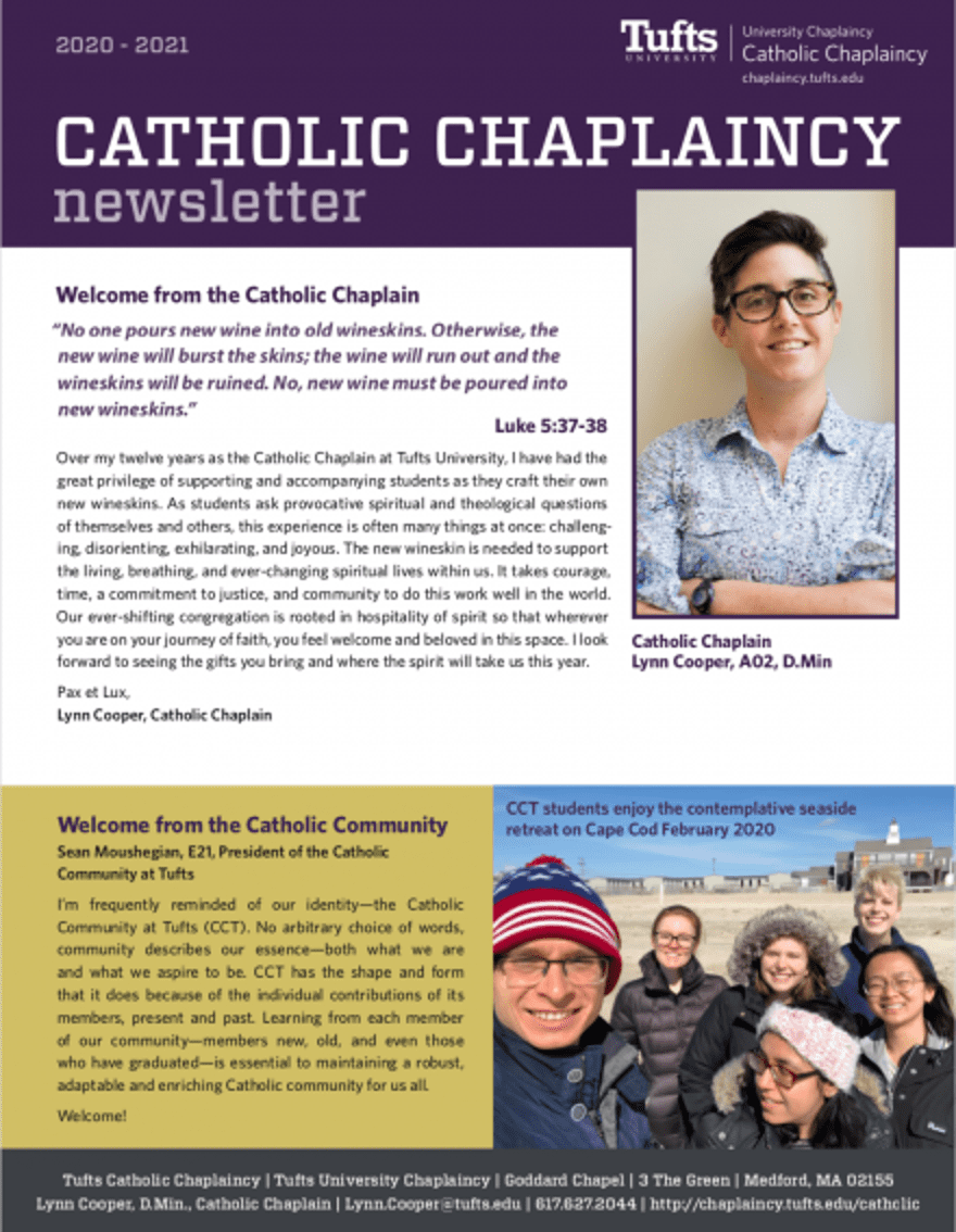 First page of Catholic Newsletter