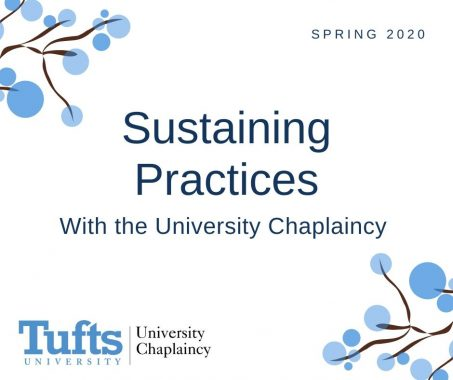 "Text on white background. Text reads ""Sustaining Practices with the University Chaplaincy"""