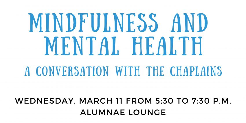 Mindfulness and Mental Health: A Conversation with the Chaplains