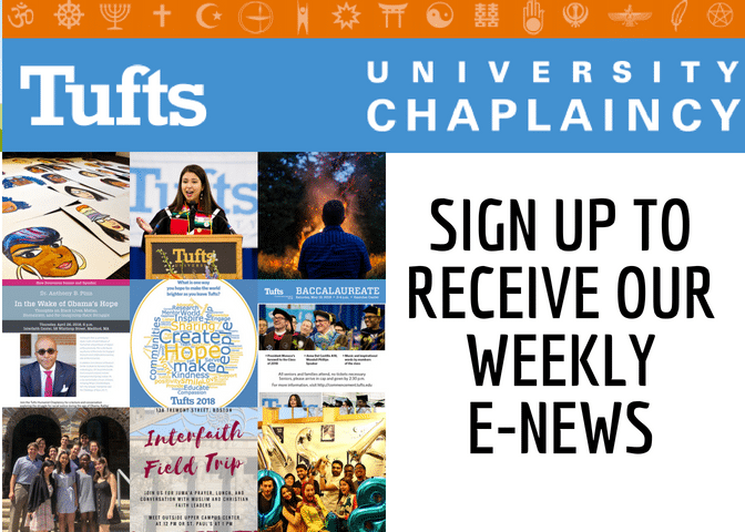 Sign up for the University Chaplaincy ENEWS